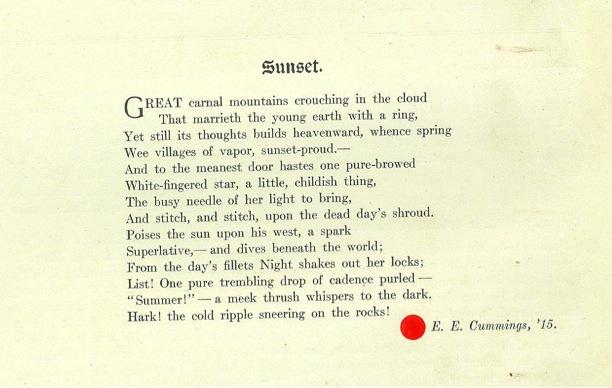 critical analysis of ee cummings poems