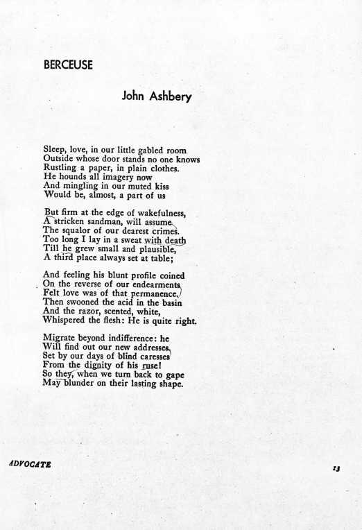 Berceuse - John Ashbery